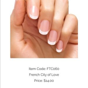 French tip nail polish strips